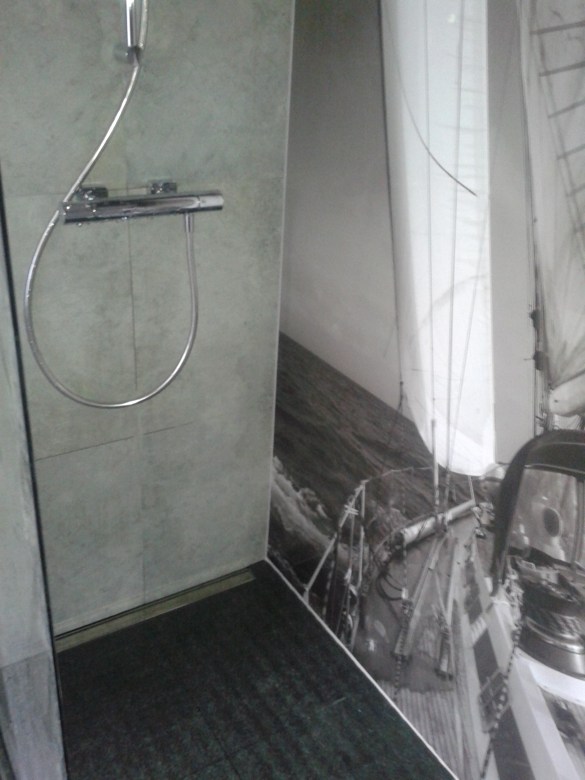 Szara łazienka , wykończenie