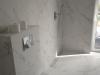 Łazienka z odpływem liniowym. Master-Bygg - remonty i wykończenia wnętrz, łazienek Gdańsk